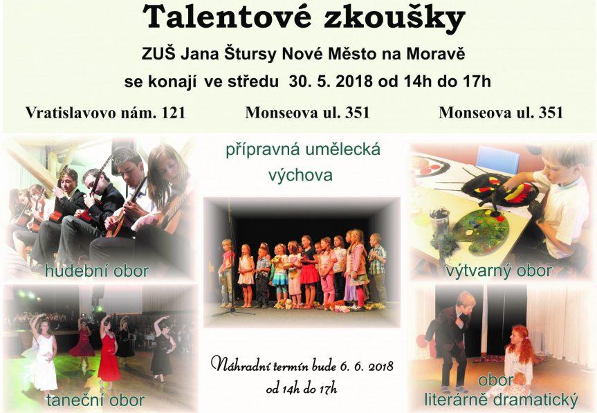 Výsledky talentových zkoušek na školní rok 2018/2019