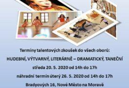 Talentové zkoušky  pro školní rok 2020/2021